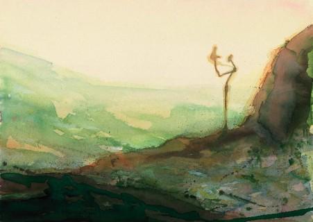 Applauding Figure in a Landscape