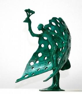 Peacock displaying his Plumage